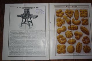 Preisliste Für Teegebäckmaschine Ca.  1930 Stella Und Astra Bild