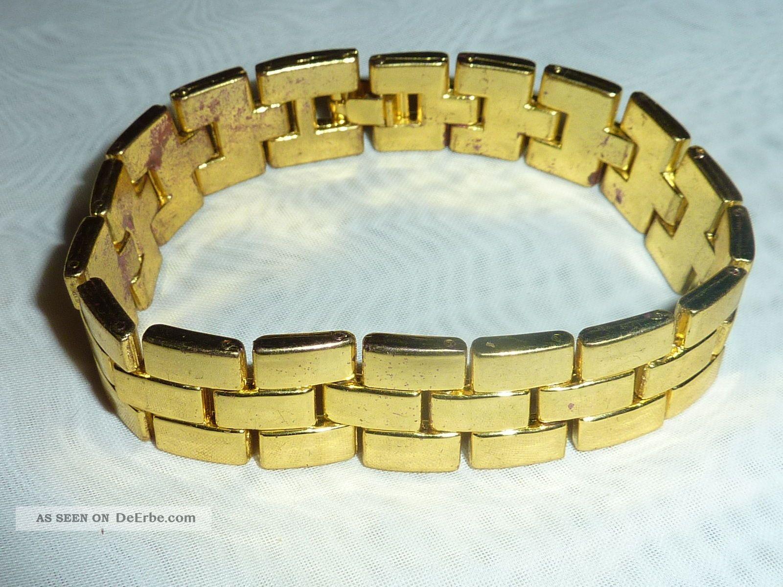 vintage 50er 60er jahre armband vergoldet 18kt. Black Bedroom Furniture Sets. Home Design Ideas