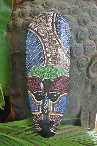 Tiki Maske Holz Handarbeit / Dekomaske Voodoo Afrika / Südsee Relief Mask 4029 Bild