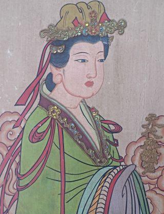 China Pastell Gemälde Frauenhalbporträt Einer Vornehmen Dame Signiert Bild