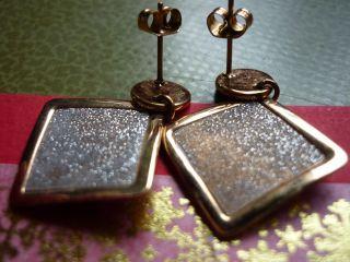 Charmantedeutsche Diamantierte Kupfer - Ohrhänger - Nie Gesehen - Für Ihre Gesundheit - Bild
