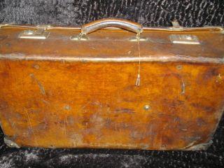 Koffer - Sehr Alt - Leder Bild