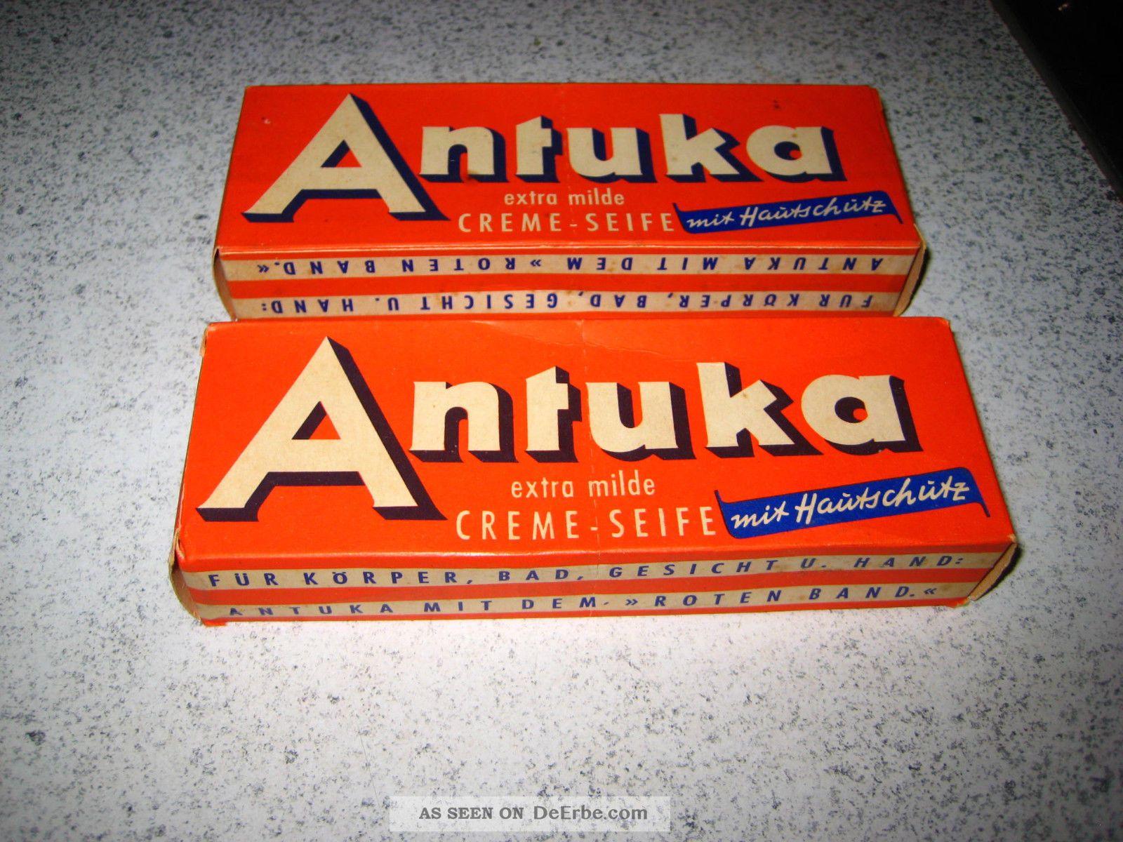 Schöne Alte Packung Mit Seife.  Antuka Creme - Seife.  Tante - Emma - Laden Kaufleute & Krämer Bild