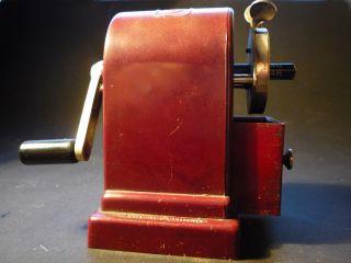 Dahle No.  22 Bleistiftanspitzer Bakelit Rot Sehr Selten 50er J.  Spitzmaschine Bild