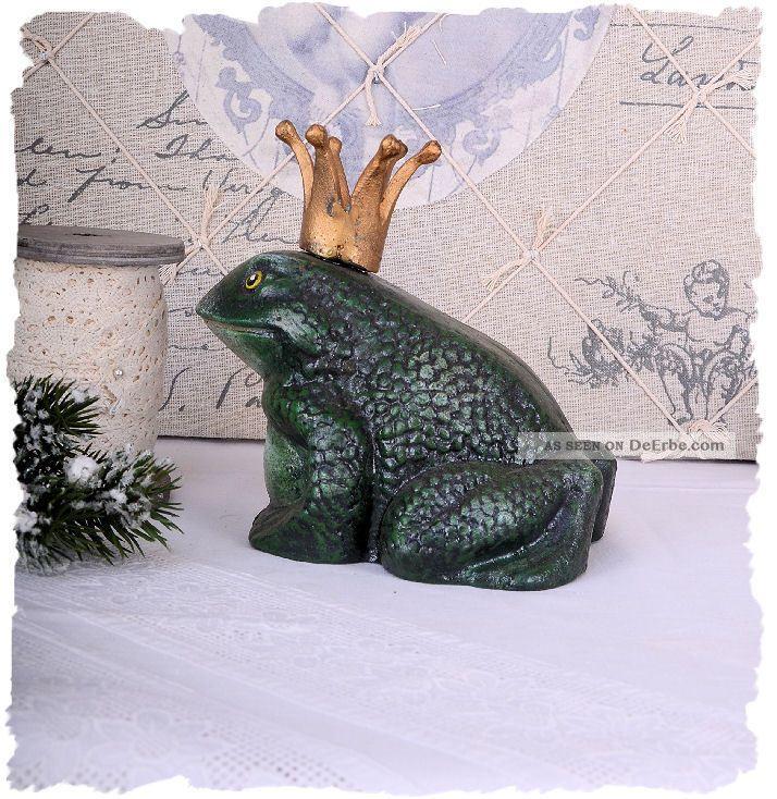 FroschkÖnig Figur Frosch Skulptur Gusseisen 2 Kg Eisenfrosch