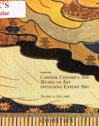 Chinese Ceramics & Of Art: Christie ' S London 06,  Results Bild