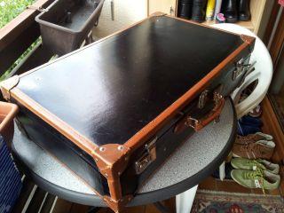 Hochwertiger Antiker Lacklederkoffer Sehr Selten Topzustand Bild
