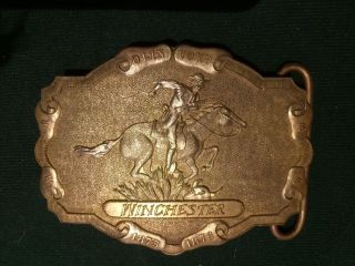 Buckle Messing Gürtelschnalle Winchester - Top - 70/80er J. Bild