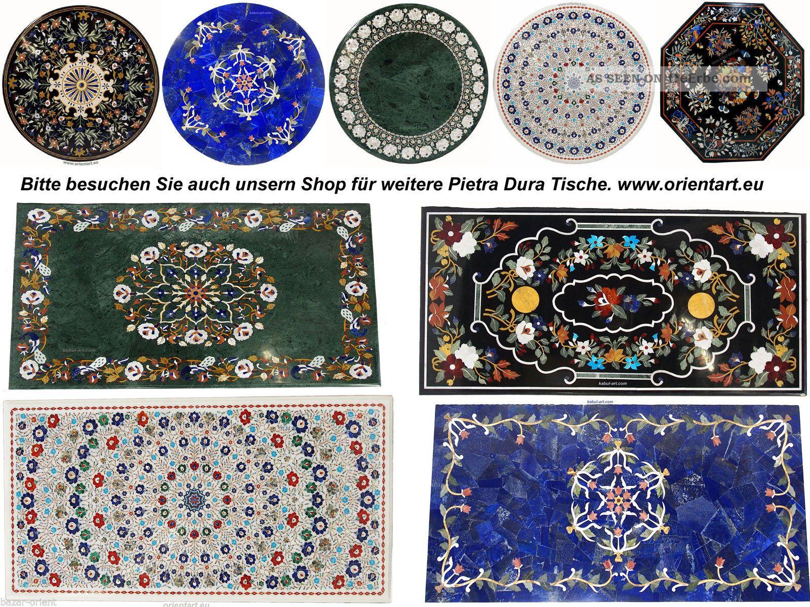 122×76 Cm Pietra Dura Couchtischtisch Florentiner Mosaik