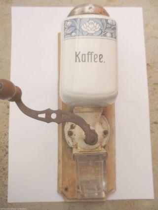 21411 Wandkaffeemühle 1920 Villeroy Boch Dresden Gut Coffee Grinder Dec 2746 Bild