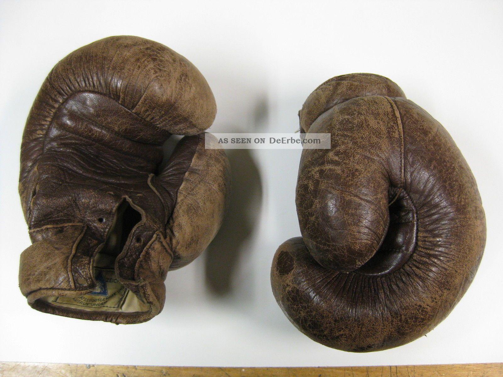 Alte antike boxhandschuhe erhard deko for Antike deko