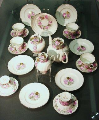 Lomonosov Teeservice Kaffeeservice Guten Morgen Knochen Porzellan 22 Tlg.  Rosen Bild