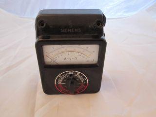 Siemens Multimeter A - V - Ω Multizet Für Gleich Und Wechselstrom Ca.  1960 Bild