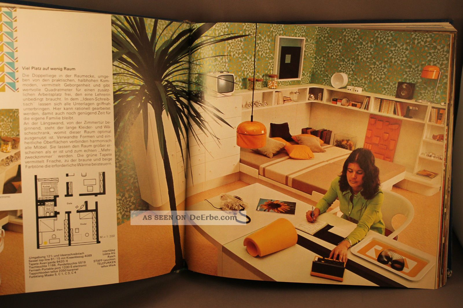 70er Jahre Buch Fibel E Age Design Cor Staff Lübke Grohe Schönbuch Omnia V B