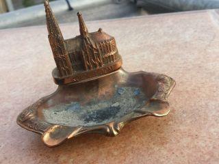 Kölner Dom Miniatur Aschenbecher Kupferfarbig Preis Runtergesetzt Bild