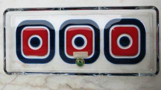 Pop Art Schale Walther Glas Design Heiner Düsterhaus Königskuchenplatte Mid 60 ' S Bild