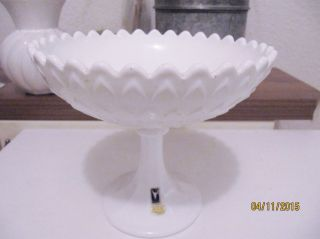 Gallo Sweden Fußschale/ Etage Schale M.  Fuß Opaline Michglas 70er 19cm D Top Bild