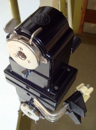 Ddr Spitzmaschine Spitzer Modell Asw 120 Vintage East German Pencil Sharpener Bild