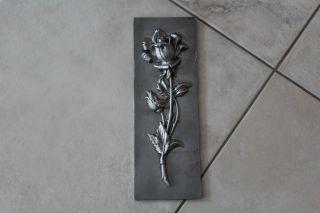 Gussbild,  Gusseisen,  33cm X 11,  5 Cm Rose Bild
