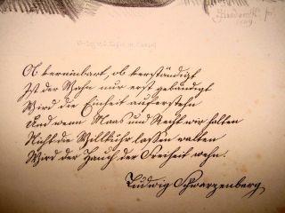 Eduard Handwerck 1824 - 1883 Kassel,  Widmung Von Ludwig Scharzenberg 1787 Bild