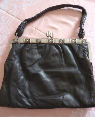 Antike Da - Handtasche Echt Leder Bild