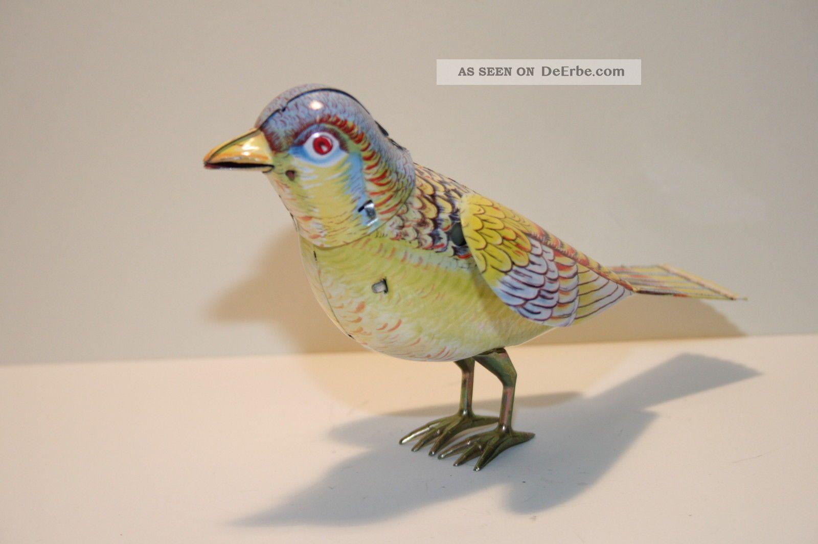 Blechspielzeug singender vogel singing bird mit federwerk