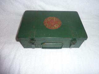 Antiker Blech Verbands Kasten Rotkreuz Koffer Bild