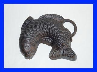 Alte Backform - Fisch Aus Gusseisen - Mitte 20.  Jahrhundert (4454) Bild