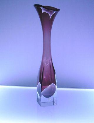 Vintage Orrefors Glas Kristall Vase Violett Schweden Art Glass Mid Century 1960 Bild