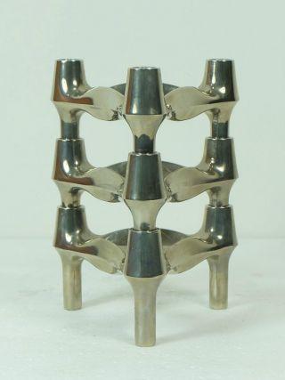 3 X Verchromte Bmf Steckleuchter Kerzenleuchter Stecksystem Modular Bild
