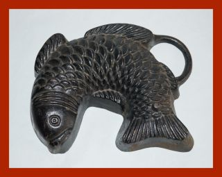 Alte Backform - Fisch Aus Gusseisen - Mitte 20.  Jahrhundert (4433) Bild