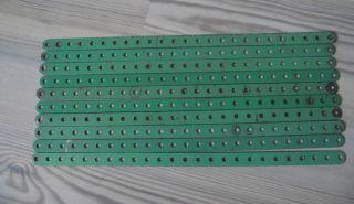 Märklin Metallbaukasten: 10 Flachbänder 25 Loch,  32 Cm Bild
