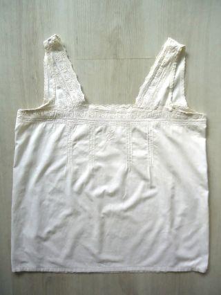 Unterhemd,  Leibchen,  Ca.  1930,  Gr.  M,  ärmellos,  Weiß,  100 Baumwolle,  Weißwäsche Bild