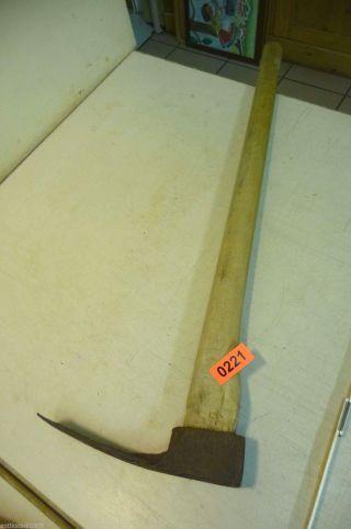Nr.  0221.  Alte Axt Beil Hacke Old Axe Wood Tool Bild