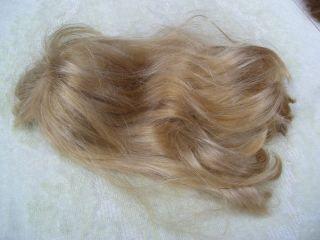 Alte Puppenteile Blonde Glatte Lang Haar Perücke Vintage Doll Hair Wig 40cm Girl Bild