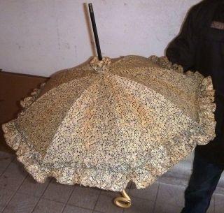 Alter Jugendstil Sonnenschirm Um 1900 Silber/bein Flanier - Regenschirm Top Zustan Bild