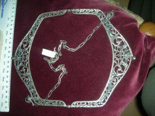 Schwerer Antiker Silberbügel Taschenbügel 800 Silber 165 Gramm Bild