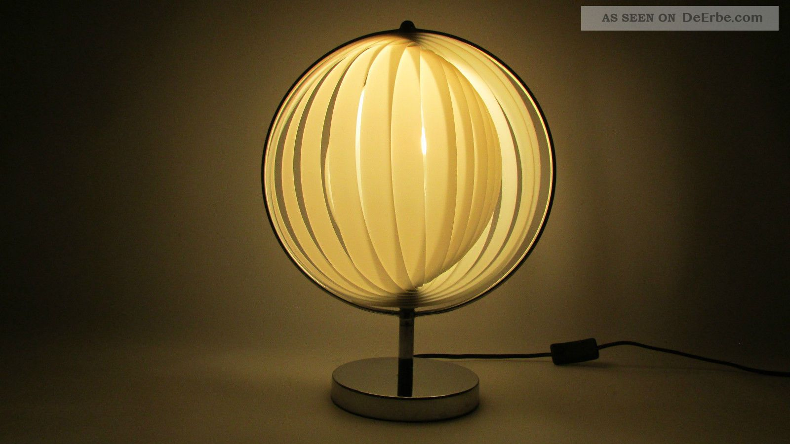70 jahre dom christian koban designlampe moon shape lamp space age mond lampe. Black Bedroom Furniture Sets. Home Design Ideas