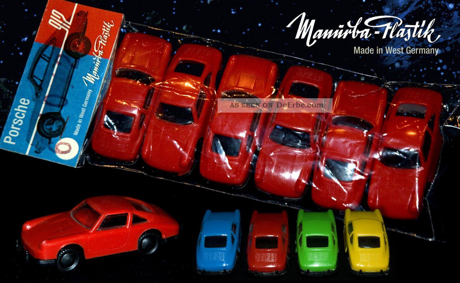 6 Manurba Porsche 911 / 912 In Rot Plastik Autos Modell Heinerle WundertÜte Fahrzeuge Bild