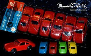 6 Manurba Porsche 911 / 912 In Rot Plastik Autos Modell Heinerle WundertÜte Bild
