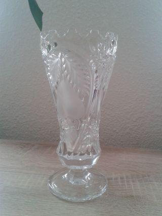 Schöne Schwere Bleikristall Vase 20 Cm Hoch Bild