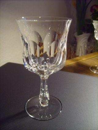 Alte Gläser,  Weingläser,  Rotweingläser Bleikristall,  Handgefertigt Flächenschliff Bild