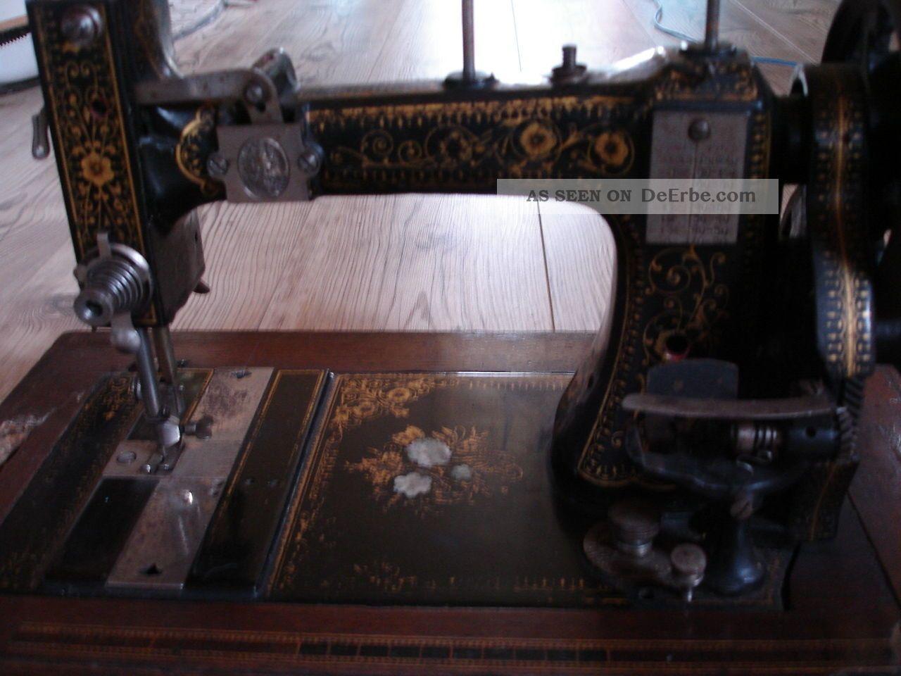 antike handkurbel n hmaschine richard knoch saalfeld. Black Bedroom Furniture Sets. Home Design Ideas