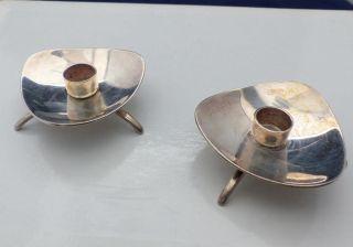 Cohr Denmark 2 Kerzenhalter Kerzenständer Dänemark Silber Fackelmarke Bild