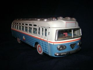 Grosser Alter Bus O.  N.  T.  Carpati Um 1960 Blech Oficiul Turism Friction Tin Coach Bild
