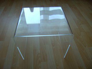 Beistelltisch - Plexiglas / Acrylglas Tischchen 70er Jahre Bild