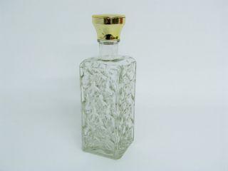 Whiskey Flasche Karaffe Aus Glas Mit Goldfarbenem Stopfen 24,  5 Cm Bild