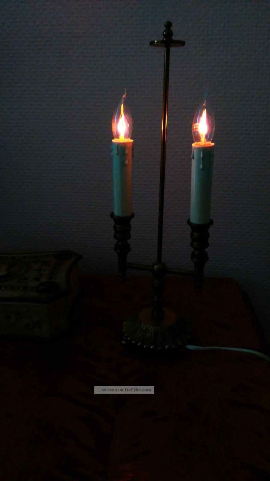 Messing Lampe Bord - Messing Lampe Alt Antik Messinglampe Tischlampe