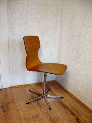 Casala Drehstuhl Formsitz Stuhl Holzstuhl Mid Century Vintage 60er 70er Bild