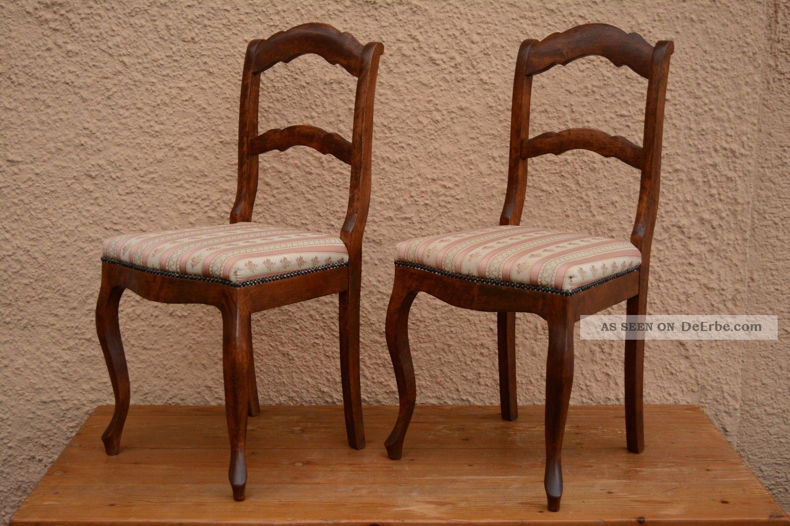 2 biedermeier nu baum st hle sch n gepolstert polster stuhl s ddeutsch vintage. Black Bedroom Furniture Sets. Home Design Ideas